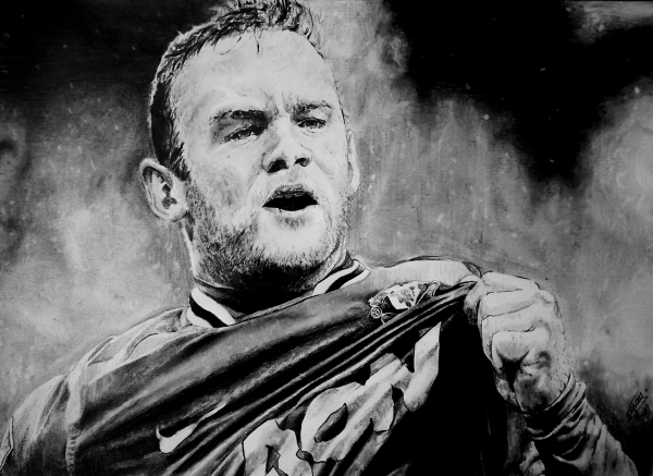 Wayne Rooney Portrait Stars Portraits Portrait of Wayne Rooney by aljackson
